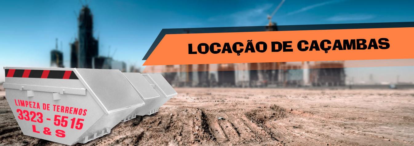 LOCAÇÃO DE CAÇAMBAS